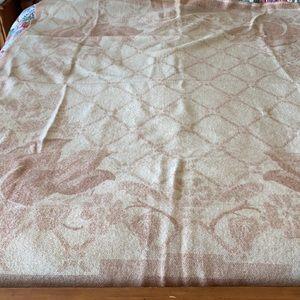 Vintage ORR Health Rose Wool Blanket